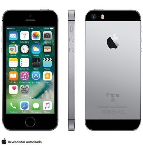 Iphone Se Cinza Espacial, Com Tela de 4, 4g, 16 Gb e Câmera de 12 Mp - Mlln2bz/a - Aemlln2bzacnz Bivolt