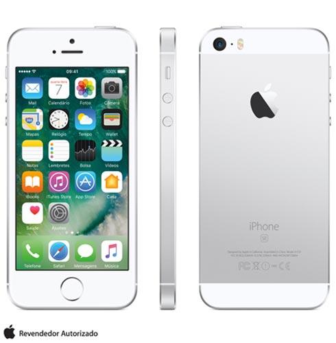 Iphone Se Prata, Com Tela de 4, 4g, 64 Gb e Câmera de 12 Mp - Mlm72bz/a - Aemlm72bzapta Bivolt