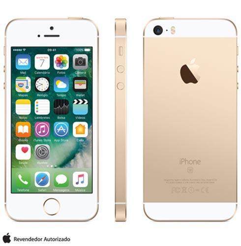Iphone Se Dourado, Com Tela de 4, 4g, 16 Gb e Câmera de 12 Mp - Mlxm2bz/a - Aemlxm2bzadrd Bivolt