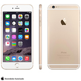 """iPhone 6 Plus Gold com iOS 8, Processador A8, 16 GB de memória, Câmera de 8MP, Tela de 5,5"""", 4G e Wi-Fi - MG9P2BZA"""