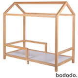 Mini Cama Casinha Pinus Natural  - Bododo