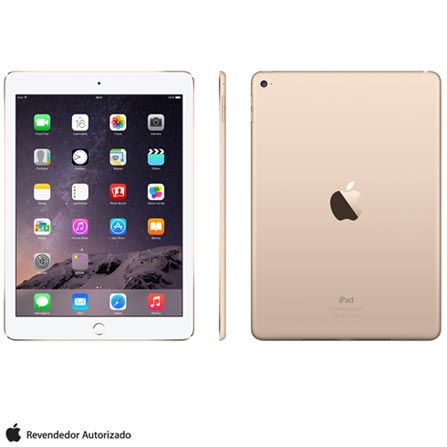 "iPad Air 2 Dourado com 9,7"", Wi-Fi, iOS 8"