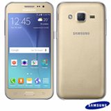 "Samsung Galaxy J2 Duos Dourado com 4,7"", 4G, Android 5.1, Quad-Core 1.1 GHz, 8 GB, Câmera de 5 MP"